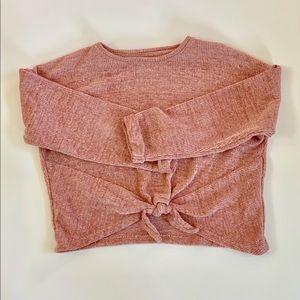 Zara Kids Collection Girl Blush Chenille Sweater